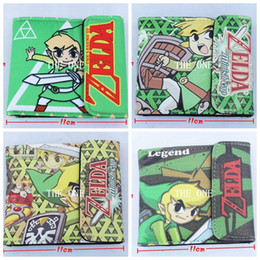 the legend of zelda game Wallet the legend of zelda minish cap 2 fold wallet Anime Kawaii pu leather money wallet snap button wallet
