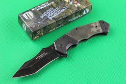 Camouflage strider 352 pocket knife 440C stonewash surface blade G10 handle outdoor gear utility hiking knives