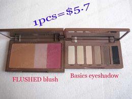 Wholesale 1PCS Flushed blush and basics color eyeshadow palette dropping shipping