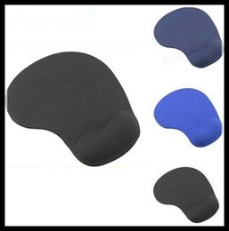 Wholesale 12pcs Top Sales slip resistant Rubber Mouse Pad Mat With Gel Wrist Rest Support PC Notebook Laptop Can Print LOGO