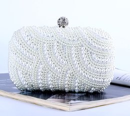 Wholesale Factory-direct brand new handmade unique beaded evening bag clutch with satin for wedding banquet party porm(More colors)