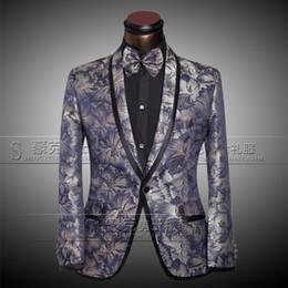 Wholesale Jackets Pants Bow tie Men s Luxury Suits Groom Groomsman Dress Business Suit Pants Wedding Men Summer Slim Fit Prom Mens Silver Suits