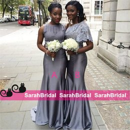 Wholesale Elegant Grey Alternative Bridesmaid Dresses Different Styles For African Maid of Honors Hot Wear For Formal Bridal Wedding Party Gowns