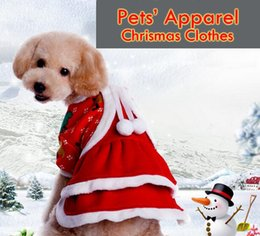Wholesale Christmas dog clothing cute Girl dress pet cloth warm winter small medium dog cat Poodle Cat Apparel New design