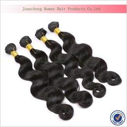 Promotion 22 pouces extensions de cheveux longueur Cheveux de Virginie de Malaisie Extensions de cheveux humains de 100% 7A Massages de cheveux de Virginie de Malaysain longueur 10-28 pouces 4 paquets de la vague de corps malaisienne