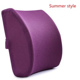 Memory Foam 3d Ventilative Mesh Lumbar Support Cushion  Back Cushion   Helps the Lumbar and Sacral Region of the Spinal Column While You Sit