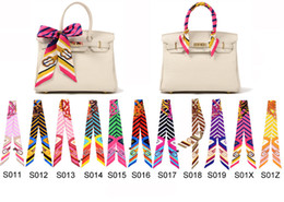 Wholesale Smallwholesales mixcolors colorful fashion twilly scarf handbag handle decoration accessories handbag twilly brand bow hair bands scarves
