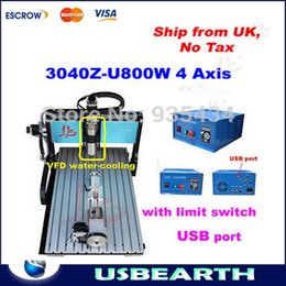 Wholesale Ship from UK No tax axis D CNC milling machine Z with limit switch W water cooled spindle USB CNC router