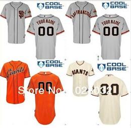 2016 Nouveau Custom San Francisco Giants Maillot de baseball personnalisé personnalisé cousu maillots hommes taille petite-4xl femmes enfants à partir de nouvelle femme jersey fabricateur