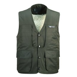 Fall-Warm autumn winter in middle-aged male lambs more warm and fine hair old man vest