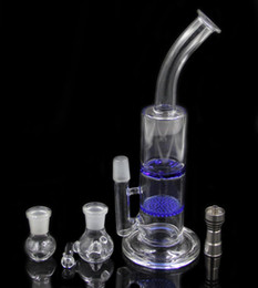 2016 bong d'huile miel Deux fonctions de 11 pouces en peigne de miel et tornade perk verre en verre pipe bong de verre avec Titanium clou de verre de clou plate-forme pétrolière bong d'huile miel promotion
