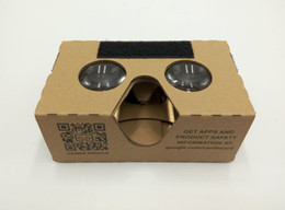 Wholesale Google Cardboard nd Generation Version Virtual Reality D Glasses with Update mm aspherical Big lens no need to install parts