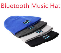 Wholesale Bluetooth Music Hat Soft Warm Beanie Cap with Stereo Headphone Headset Speaker Wireless Microphone for man support for iphone ipad MP3 ipod