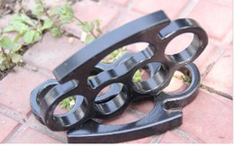 2016 New ARIVAL Black THICK STEEL BRASS KNUCKLES DUSTER BUCKLE Free Drop shipping