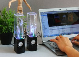 Dancing Water Speaker Music Audio 3.5MM Player pour S5 note4 LED 2 en 1 USB mini Colorful Water-drop Show pour tablette PSP téléphone DHLFREE 60pair à partir de conduit l'eau de danse usb fournisseurs