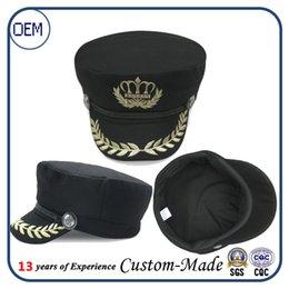 Wholesale china factory Custom Captain Boating Sailor Sea Navy Marine Hat Cap Party