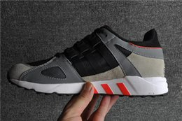 Wholesale 2015 hot selling man sport shoes Solebox x Equipment RNG Guidance Black Red Stone