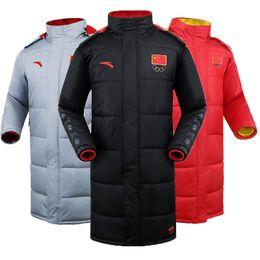 Wholesale Fall Anta men s down jacket coats keep warm in winter coat long down jacket hooded down jacket jackets coats