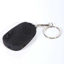 Wholesale 1pcs Mini Camcorders spy car keys Car Keychain Spy Camera HD video Hidden camera Video Recorder Camcorder for TF SD card