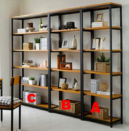 American antique wrought iron floor-standing shelves Shelves simple clapboard display a variety of display racks Specials