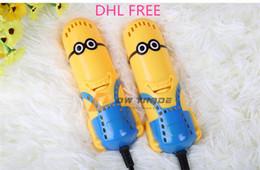 Wholesale Shoe Dryers Electric - DHL 2015 Despicable Me Minions Portable Shoe Dryer drier Electric Shoes Boots Warmer Shoes Deodorizer winter parch shoes J123004#