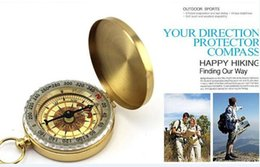 Wholesale Delicate Brass Pocket Watch Style Outdoor Camping Compass Golden Classic Antique