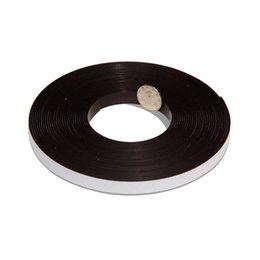 Wholesale 2 Meters Self Adhesive Flexible Magnetic Strip Magnet Tape Width12 x1 mm Ad Teaching Rubber Magnet