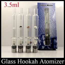 Wholesale 2015 Pyrex Glass Water Atomizer Hookah Pen Smoking Pipes E Cig Tank Dry Herb Wax Vaporizer Glass Atomizer For EGO Evod Battery ATB031