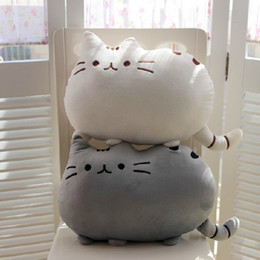 Wholesale Kawaii Brinquedos New Cat Pusheen Pillow With Zipper Only Skin Without PP Cotton Biscuits Kids Toys Big Cushion Pillow Kids Toys