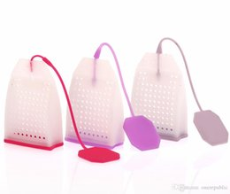 Wholesale 2015 Hot Sale New small handbag Tea Bags Strainers Teaspoon Filter Infuser Silica Gel Filtration home accessory z00543