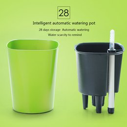 Wholesale Intelligent automatic watering flower pot Paint process days storage Water scarcity to remind Food grade PP pot