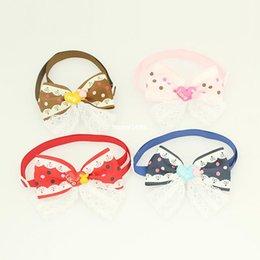 Wholesale Armi store Handmade Beauty Pattern Ribbon Dog Tie Pet Collars Bows