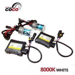 Wholesale 1Set Car Xenon HID Kit Headlight headlamp K white light Slim Ballast DC V W bulb H1 H3 H4 H7 H8 H9 H10 H11