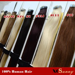XCSUNNY Tape Malaysian Remy Hair Extensions 18 20 inch 100g 100% Human Skin Weft Hair Extensions Remy Hair Extensions Tape in