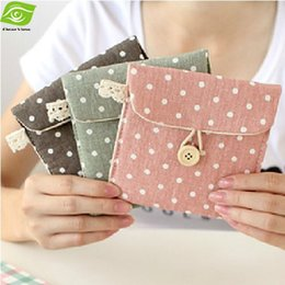 Wholesale Necessary For Girls Tissue Storage Holder Dot Sanitary Napkin Storage Bag Colors Sanitary Towel Bag dandys