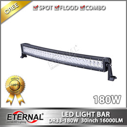 Wholesale 180W in radius led light bar high power x4 off road Jeep Toyota Nissan ATV UTV led light bar with super brightness