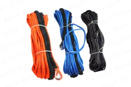 Wholesale 8mm meter lbs UHMWPE Braid Synthetic Winch Rope with S S Thimble for ATV UTV SUV X4 WD
