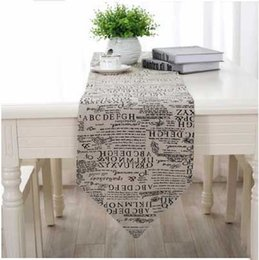 Wholesale Linen Cotton Table Runner Satin Wedding Party Banquet Decoration Color News Paper Home Dining Living Room Wedding Party Banquet