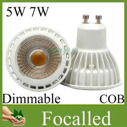 Hot sale COB Led spotlight dimmable 5w 7w Gu10 110-240v Mr16 12v led lights for home led spot light bulb lighting Free DHL