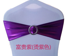 Wholesale 300pcs Chair Sash Bronzing Stretch Wedding Decorations Supplies Free Tied Bowknot Wedding Party Favors White Chair Spandex Covers Wedding