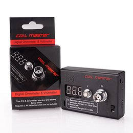 Authentic Coil Master Ohm MeterDigital Ohmmeter Voltmeter tester volt resistance for istick 30w itick 50w Kanger subtank plus subtank mini