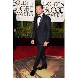 Wholesale 2016 Golden Globe Award Leonardo Man Suits Notched Lapel Groomsman Tuxedos Men Wedding Suits Best Selling
