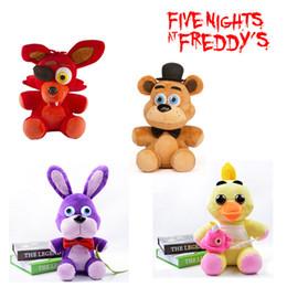 Wholesale 10 quot cm Five Nights At Freddy s FNAF Freddy Fazbear Bear foxy wolf Plush Toys kids toys soft tuffed toys Doll