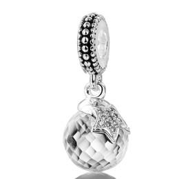 2017 point de navire Livraison gratuite étoile à cinq branches de charme Pendentif blanc diamant 925 Charms Sterling Silver Bead européennes Fit Serpent Bracelet chaîne de bijoux point de navire sur la vente