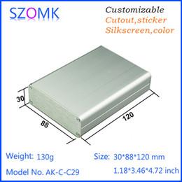 1 pcs, aluminium box amplifier case 30*88*120mm electronics aluminum distribution box, szomk aluminum instrument housing box AK-C-C29