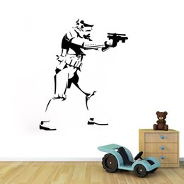 46*58cm Star Wars Wall Decals Removable Pvc Wall Stickers For Kids Rooms Home Decor Bedroom Diy Wall Art QT015