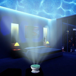 Wholesale Romantic Led Night Light Projector Ocean Daren Waves Projector Projection Lamp lights With stereo audio Speaker Wave lamp