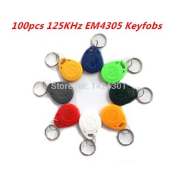 Wholesale KHz EM4305 RFID Access Control Cards Keyfobs Key Finders Keychain Tags for Identity Authentication Card Payment