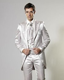 Two Pieces Hot Sale Custom Made Groom Tuxedos Silver Wedding Suits Party Suit Dinner Suit Groomsman Suit Boy's Suit