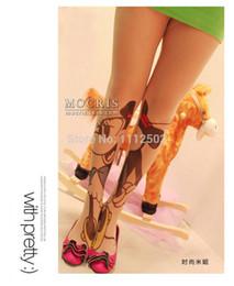 Wholesale 2014 Freeshipping pairs Japanese harajuku mickey Minnie tattoo socks tattoo even socks tutu printed socks
